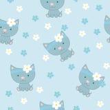 Mały kot. Wzór royalty ilustracja