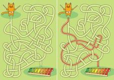 Mały kota labirynt royalty ilustracja