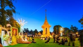 mały Królewski crematorium dla przepustki królewiątka Tajlandia Zdjęcia Royalty Free
