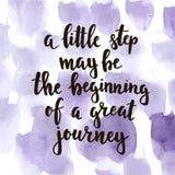 Mały krok może być początkiem wielka podróż Zdjęcie Stock