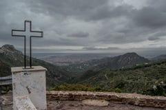 Mały krzyż pustynny punkt widzenia Fotografia Royalty Free