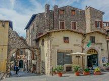 Mały kwadrat w Tivoli mieście zdjęcie royalty free