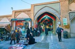 Mały kwadrat w Uroczystym bazarze, Kashan, Iran zdjęcia royalty free