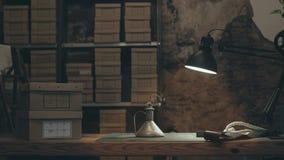 Mały lampion z ogieniem w wygłupy rocznika sklepie zbiory