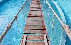 Mały linowy wiszący most Zdjęcie Stock