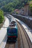 mały lokalnej staci pociąg Fotografia Royalty Free
