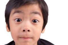 Mały mężczyzna zaskakuje i w ten sposób szczęśliwy o mnie Zdjęcia Stock