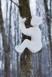 Mały mężczyzna zrobił ââof śniegowi Zdjęcia Royalty Free