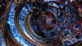 Mały metal rzeczy 3d fractal rozkazu chaos Chaotyczna abstrakcja ilustracji