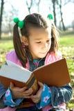 mały miłe dziecko księgowego odczyt Obraz Stock