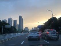 Mały miasta wschód słońca! obrazy stock