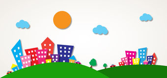 Mały miasteczko ilustracji