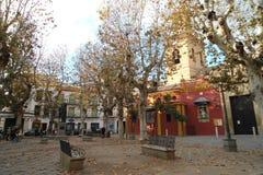Mały miejsce kwadrat w Sevilla Hiszpania zdjęcia royalty free