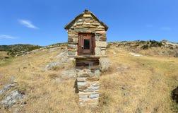 Mały model kościół na Greckiej wyspie fotografia stock