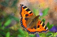 mały motyl tortoiseshell Zdjęcia Royalty Free