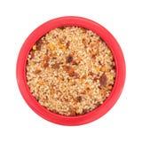 Mały naczynie wypełniał z solą, czerwonego chili pieprzem i papryką, zdjęcie royalty free