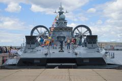 Mały napaść wodno-lądowa statku ` Evgeny Kocheshkov ` na molu Fotografia Stock