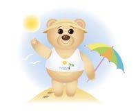 Mały niedźwiedź na morzu Zdjęcia Stock