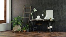 Mały nowożytny biurka lub writing stół royalty ilustracja
