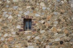 Mały okno w ścianie Fotografia Royalty Free
