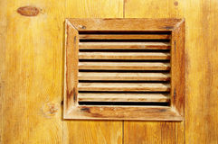 Mały okno z drewnianym kratownicy zbliżeniem Zdjęcie Stock