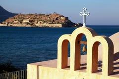 Mały ortodoksyjny Grecki kościół (Crete Grecja,) Obrazy Royalty Free