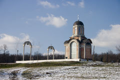 mały ortodoksyjny kościoła Obrazy Royalty Free
