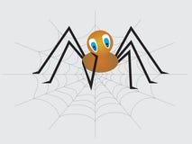 mały osamotniony smutny pająk ilustracji