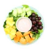 mały owocowy tray jogurt Zdjęcia Royalty Free