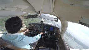 Mały płaski lądowanie od kokpitu zdjęcie wideo