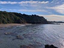 Mały plażowy pobliski levenchori, Grecja obrazy stock