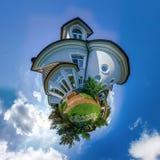 Mały planeta widok piękny dom Zdjęcia Royalty Free