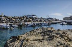 Mały port Pessada południe wyspa Kefalonia Fotografia Stock