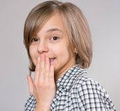 mały portret dziewczyny obraz royalty free