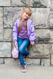mały portret słodką dziewczynę Zdjęcia Royalty Free