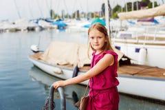 mały portret słodką dziewczynę Obrazy Royalty Free