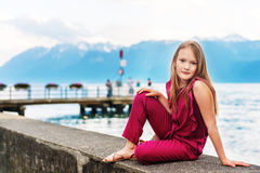 mały portret słodką dziewczynę Obraz Stock