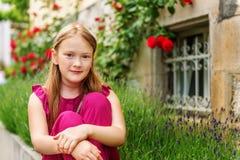 mały portret słodką dziewczynę Obraz Royalty Free