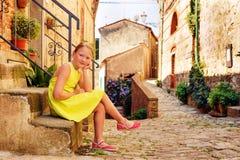 mały portret słodką dziewczynę Fotografia Royalty Free