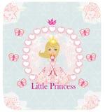 Mały Princess, abstrakt karta Zdjęcia Stock