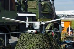 Mały, przenośne urządzenie lekki wywiadowczy bezpilotowy powietrzny pojazd EMT Aladin Fotografia Stock