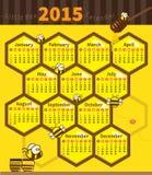 Mały pszczoła kalendarz 2015 Zdjęcia Stock