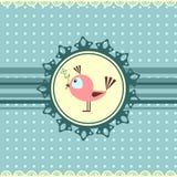 mały ptaka powitanie karciany śliczny Royalty Ilustracja
