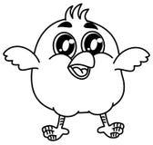 Mały ptasi ono uśmiecha się dla barwić ilustracji