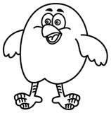 Mały ptasi ono uśmiecha się dla barwić ilustracja wektor