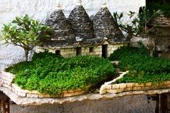 Mały rapresentation tradycyjny południowy włocha dom zdjęcie stock