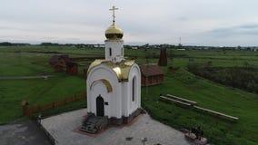 Mały Rosyjski kościół powietrza widok zbiory wideo