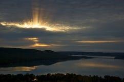 mały roztoka wschód słońca Zdjęcie Stock