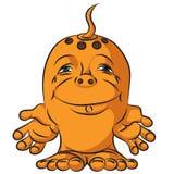 Mały rysunek gniewny potwór Zdjęcie Royalty Free