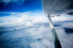 mały samolotu skrzydło Obraz Royalty Free